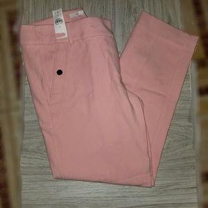 LOFT pink the Riviera pant cropped Marisa fit NWT